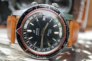 Enicar Sherpa Guide 600 MkII Worldtimer GMT Gents Vintage Watch c1960's-Rare!