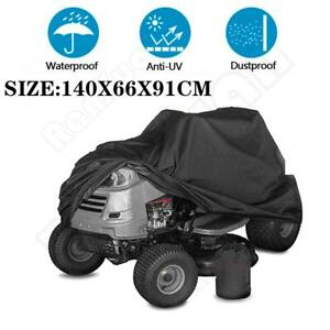 Lawn Riding Mower Tractor Cover Black Durable  Max 55