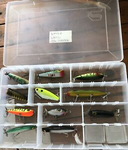 Top water luresVintage popper lot of 11