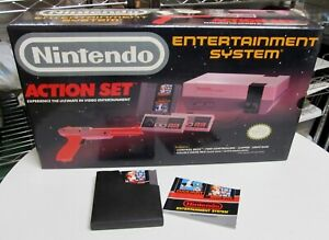 NES Action Set complete in box Original Nintendo System w Mario Bros Near Mint