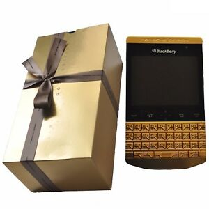New BlackBerry Porsche Design P9981 QWERTY+Arabic VVIP 24K Gold Factory Unlocked