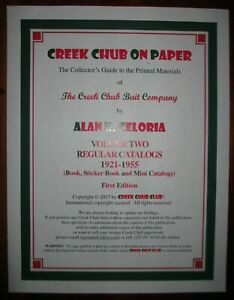 CREEK CHUB ON PAPER Vol 2 - Regular Book Catalogs (1921-55) author-signed-number