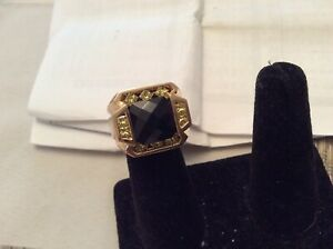 Custum Designed  14k  RingNatural Intense Fancy Yellow Diamonds