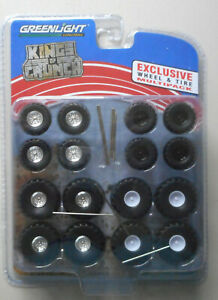 Kings Crunch Wheel & Tire Multi Pack 1:64 Greenlight Collectibles for Die-cast