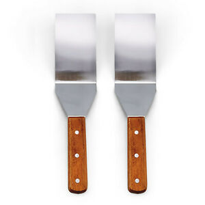 2pc BBQ Spatula Grill Turner Stainless Steel 71/2