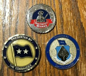 Military & Defense Industry Challenge Coin Lot - 3 Coins $12.00