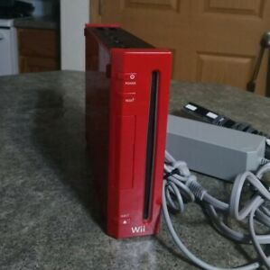 Nintendo Wii Limited Edition Red Console With Power Cord And Sensor ONLY