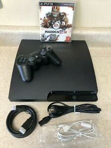 Sony PlayStation 3 PS3 Slim 320gb System with New HDD CECH3001A