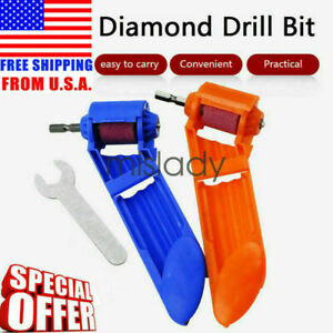 US Corundum Grinding Wheel Drill Bit Sharpener Titanium Portable Powered Tools