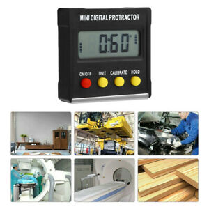 LCD Digital Protractor Gauge Level Box Angle Finder Inclinometer Magnet Meter $12.59
