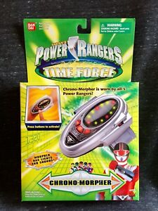 RARE Power Rangers Time Force CHRONO MORPHER 2000 - RED RANGER - SEALED PROP TOY