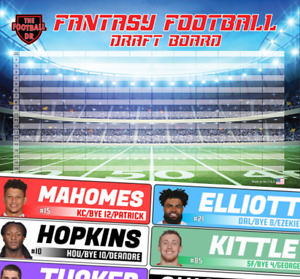 🔥 JUMBO Fantasy Football Draft Board Kit 2019 - Color Rush Labels