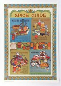 Vintage Retro SPICE GUIDE Portal Publications Callifornia color Lithograph #Z130