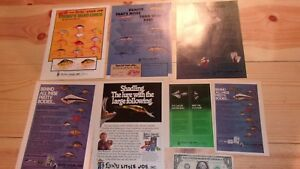 Lot of Original Vintage Lindy Little Joe Young#x27;s Lure Magazine Ad Fishing #2