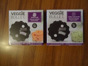 2 - Veggie Bullet Blades. Udon And Angel Hair Blades.  New In Box.