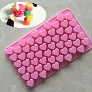 55 Cavities Durable Love Heart Shape Silicone Mold For Chocolate DIY Sweet Candy
