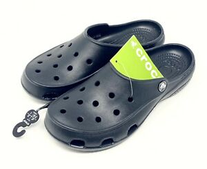 Crocs Freesail Graphic Clog Tropical Black Mule Shoe Womens size 5 or 8 NEW