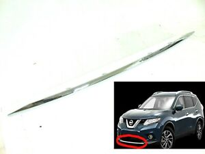 New Fits 14 15 16 Nissan Rogue Front Bumper Chrome Molding Trim Acent 108153