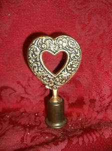 ANTIQUE VERY ORNATE HEART SHAPE LAMP FINIAL.....NICE!
