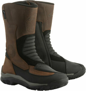 Alpinestars CAMPECHE Drystar Oiled Leather Riding Boots Brown Black 10 $259.95