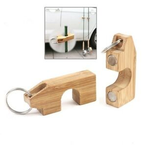 Wooden Mini Fly Fishing Rod Rack Holder Magnetic Fishing Rod Guard Hanger to Car