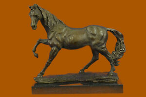 Signed Bronze Arabian Horse Lovers Stallion Sculpture Statue Equestrian $439.00