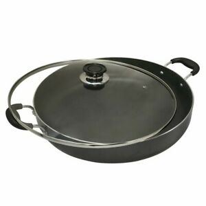 Aluminum 10 inch Low Pot Cookware Deep Cooking Non Stick Coating Wide Wok Style