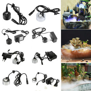 Ultrasonic 12 LED Mist Maker Fogger Water Fountain Pond Atomizer Air Humidifier