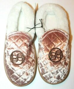 Bebe Youth Girls Faux Fur Quilted Slippers Pink or Gray or Black $11.24