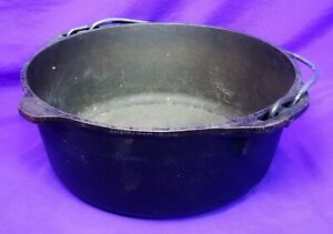 Lodge Cast Iron Dutch Oven Pot No 8 800 Made in USA No Lid
