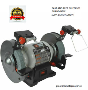 PORTER CABLE 6 in Bench Grinder with Built in Light Shaping Grinding Sharpening $50.99
