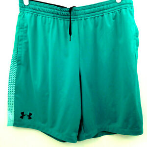 Under Armour Shorts Mens XL Fitted Teal Green Mesh Side Panel  Workout Athletic