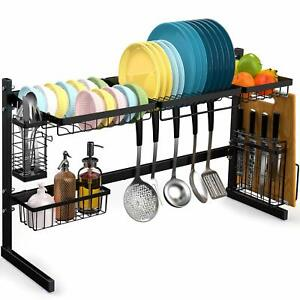 Over the Sink Dish Drying Rack Veckle Stainless Steel Large Dish Drainer Kitchen