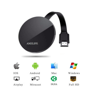 Wireless Display Streaming Media Players Dongle WiFi Portable Receiver 1080P HD