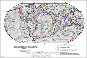 Poster, Many Sizes; Tectonic Plate Activity Plate Tectonics
