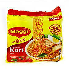 Maggi Curry Instant Noodle Original 55g x 5 packets best selling, Halal Malaysia