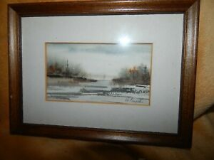 Minature vintage paintings Artist D .Brych $36.00