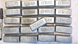 20 lbs of clean lead Ingots - For casting bullets sinkers jigs Bh 10-12