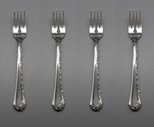 Oneida Stainless Flatware  BELLE ROSE Salad Forks * USA - SET OF FOUR