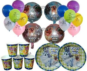 Puppy Dog Pals Banner, Balloons, Plates, Cups, Birthday Party Decorations Supply