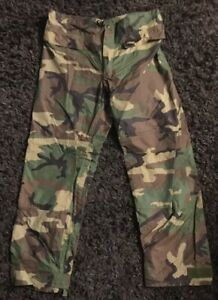 US Military Issued Woodland Camo Improved Rainsuit Pull Over Trousers Size Small