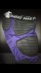 Nike Pro COMBAT PURPLE Compression PADDED Tights PE PLAYER EXCLUSIVE SAMPLE XL