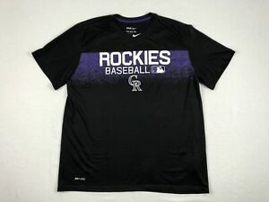 NEW Nike Colorado Rockies - Black Dri-Fit Short Sleeve Shirt (Multiple Sizes)