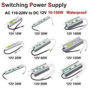 AC - DC 12V Outdoor Waterproof Transformer Power Supply Adapter LED Light Driver