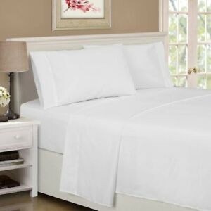 3-pc Twin XL White Superior 1500 Series Rayon from Bamboo Microfiber Sheet Set
