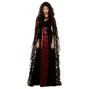 Vampire Costume Adult Victorian Vampiress Halloween Fancy Dress $34.90