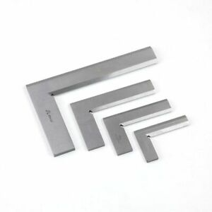 Stainless Steel Ruler L Square Right Angle Silver Degree Bladed Straight Metric