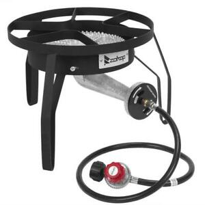 200,000 BTU Outdoor Stove Propane Burner  Gas Portable Cooker BBQ Grill Black US