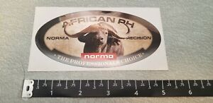Norma Precision African PH Precision Water Buffalo Bullets Decal Sticker