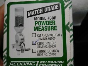 Redding Match Grade #3BR Powder Measure with the pistol micrometer installed